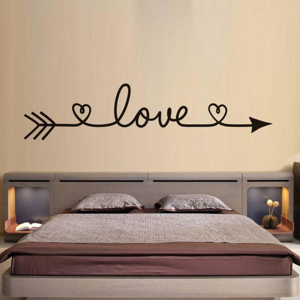 PINkart-USA Online Shopping Design Love Arrow Removable Vinyl Wall Stickers Wall Art Decal Kids' Room Wallpaper Above Bed Mural