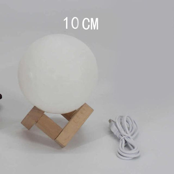 PINkart-USA Online Shopping dia 10cm 3D Printing Moon Creative Night Lights Touch Control Brightness Two Color Romantic Table Lamp