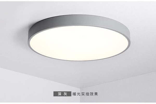 PINkart-USA Online Shopping Dia50xH5cm / Dark Gray / warm white Multicolour Modern Led Ceiling Lamp Round Super Thin 5Cm For Bedroom Kitchen Lamp Indoor Ac220V