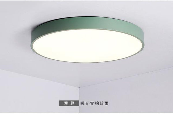 PINkart-USA Online Shopping Dia50xH5cm / Green / warm white Multicolour Modern Led Ceiling Lamp Round Super Thin 5Cm For Bedroom Kitchen Lamp Indoor Ac220V