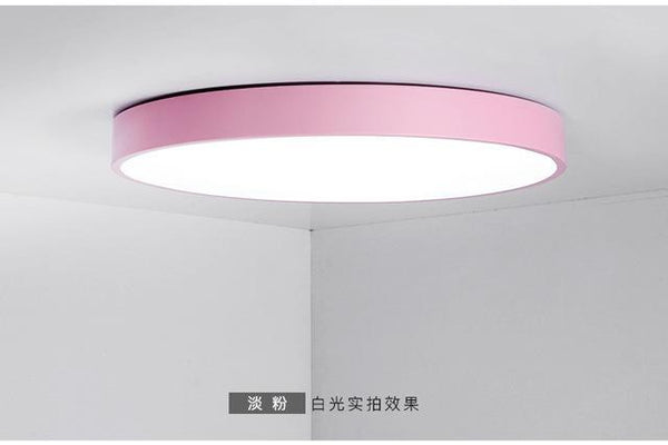 PINkart-USA Online Shopping Dia50xH5cm / Pink / warm white Multicolour Modern Led Ceiling Lamp Round Super Thin 5Cm For Bedroom Kitchen Lamp Indoor Ac220V