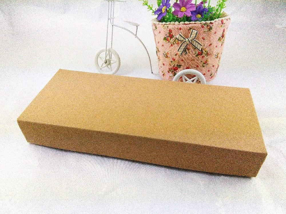 PINkart-USA Online Shopping Diy Handmade Gift Boxes 29X12.3X4Cm Bigger Kraft Paper Gift Box Blank Packaging Cardboard Box For