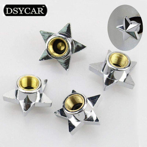 PinKart-USA Online Shopping *Dsycar 4Pcs/Lot Universal Bike Moto Car Tires Wheel Valve Cap Cover Car Styling For Fiat Bmw Ford