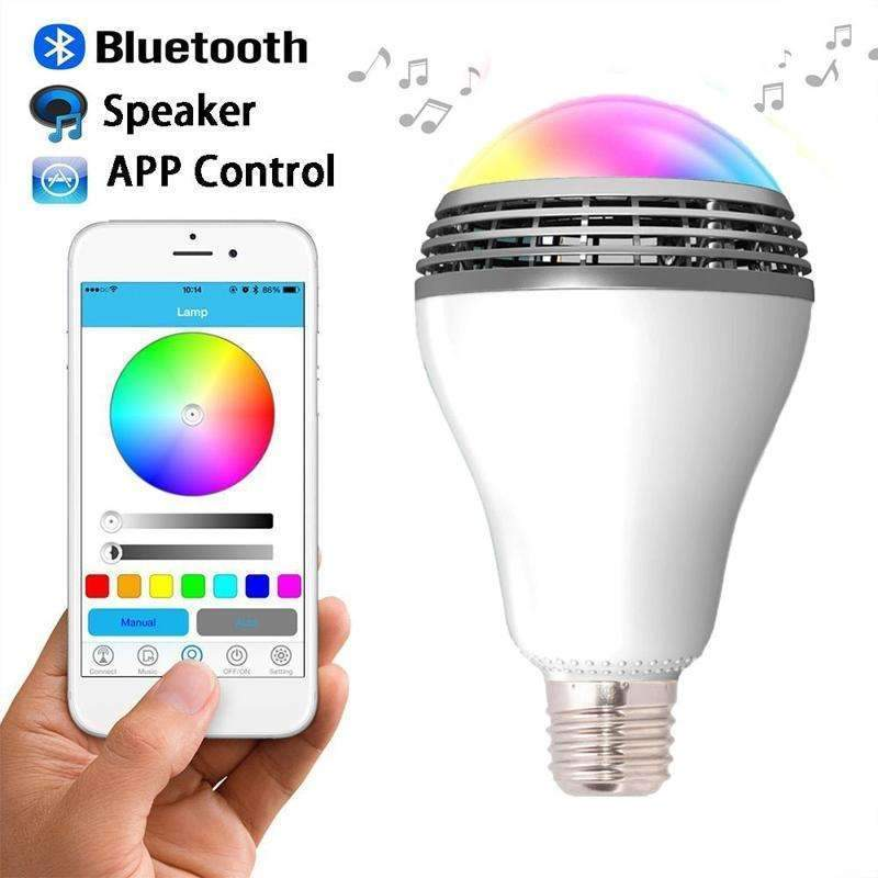 PinKart-USA Online Shopping E27 6W Rgb Led Bulb Bluetooth Smart Lighting Lamp Colorful Dimmable Speaker Lights Bulb Remote