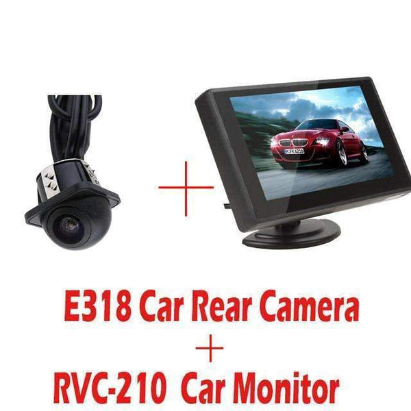 PinKart-USA Online Shopping E318 and RVC 210 E318 Night Vision Waterproof Color Car Rear View Camera Reverse Backup Camera E327 E350 - 4.3 Inch