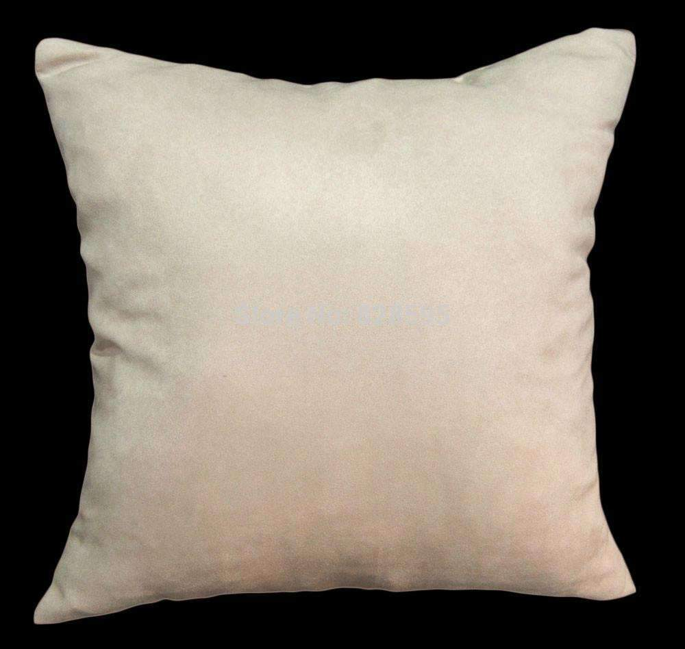 PinKart-USA Online Shopping Eg13 - 16 X 16 / 40 X 40Cm Tan Soft Faux Leather Micro Suede Cushion Cover Pillow Case (1Pcs)