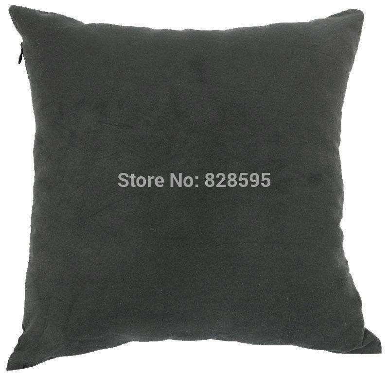 PinKart-USA Online Shopping Eg20 - 16 X 16 / 40 X 40Cm Gray Black Soft Faux Leather Micro Suede Cushion Cover Pillow Case