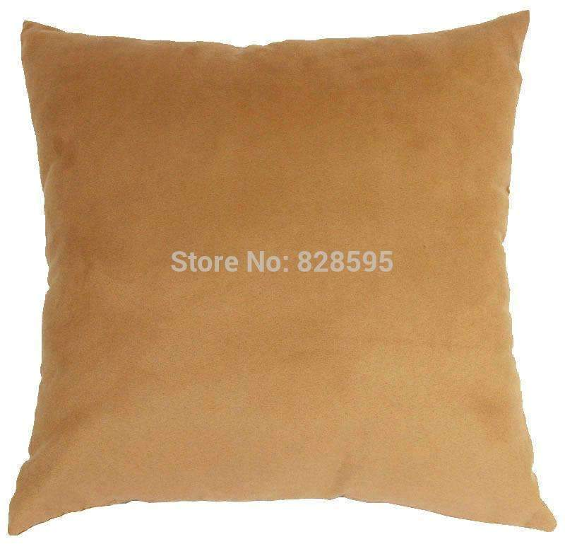 PinKart-USA Online Shopping Eg26 - 16 X 16 / 40 X 40Cm Light Pale Gold Soft Faux Leather Micro Suede Cushion Cover Pillow