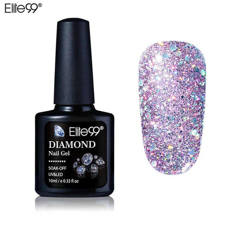 PinKart-USA Online Shopping Elite99 10Ml Diamond Nail Gel Glitter Uv Gel Polish Manicure Led Sequins Gel Nail Soak Off Gel