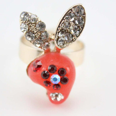 PINkart-USA Online Shopping Fashion Jewelry Rabbit Ring For Girls Crystal Cheap Neon Rings Wholesale