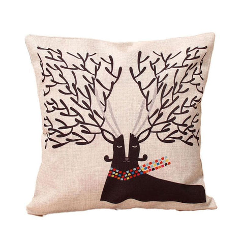 Fashion Pillowcase Cute Cartoon Animal Cotton Linen Home Car Decor Throw Pillow 43*43cm 9 Styles Online Shopping PINkart.in