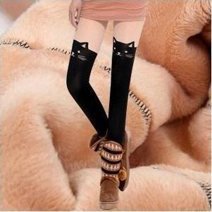 Fashion Style Winter Knitted Fabric Lady Printed Stitching Best Quality Leopard Cat Thick
