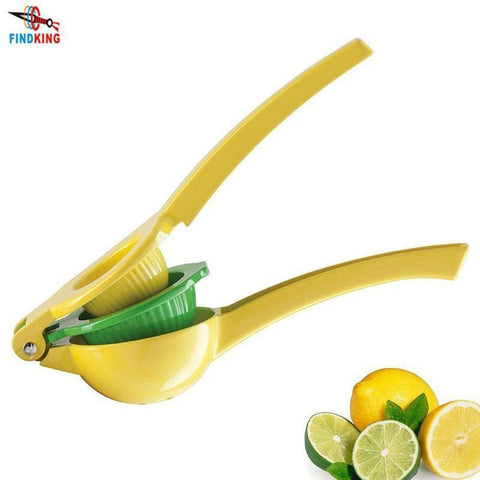 PinKart-USA Online Shopping Findking High Quality Enameled Aluminum Double Bowl Lemon Squeezer, Manual Citrus Press Juice
