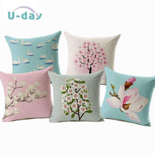 PinKart-USA Online Shopping Flower Decorative Pillows Home Car Tree Cushions Funda Cojines Wave Coussin Decoration Ch5D07