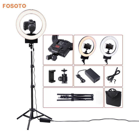 "PINkart-USA Online Shopping Fosoto 12"" Photography Lighting Dimmable Bi-Color 3200K-5600K 36W Cri 93 Camera Photo Studio"