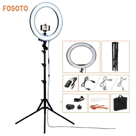 PINkart-USA Online Shopping Fosoto Rl-18 240Led 5500K Dimmable Photography/Photo/Studio/Phone/Video Ring Light Lamp&Tripod