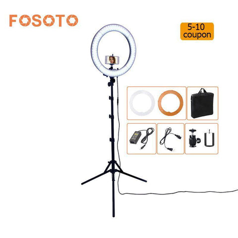 PINkart-USA Online Shopping Fosoto Rl-18 55W 5500K 240 Led Photographic Lighting Dimmable Camera Photo/Studio/Phone Photography