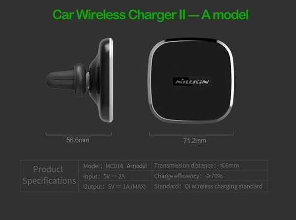PinKart-USA Online Shopping GEN 2 A Model Nillkin Qi Wireless Charger Pad Car Charger For Samsung Galaxy Note 8 S8 S8+ Wireless Charging Phon