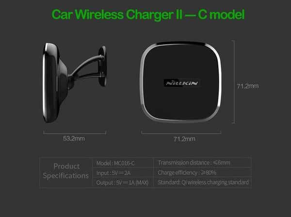PinKart-USA Online Shopping GEN 2 C Model Nillkin Qi Wireless Charger Pad Car Charger For Samsung Galaxy Note 8 S8 S8+ Wireless Charging Phon