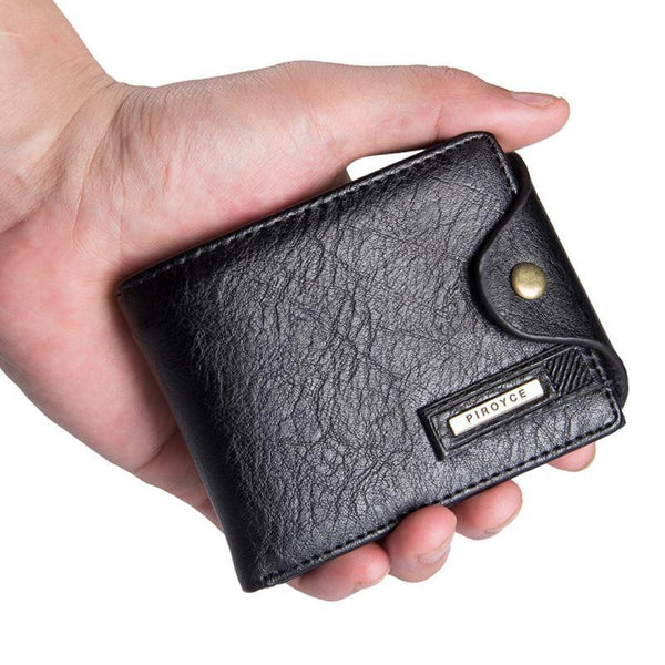 PINkart-USA Online Shopping Genuine Leather Brand Men Wallets Design Short Small Wallets Male Mens Purses Card Holder