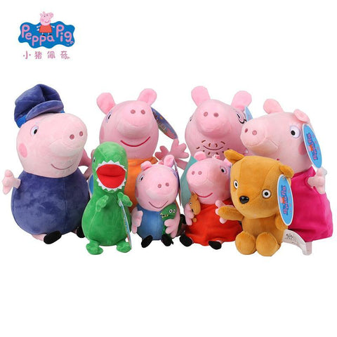 PINkart-USA Online Shopping Genuine Peppa Pig Family Plush Toys Peppa George Pig Family Toys For Children Hobbies Dolls &
