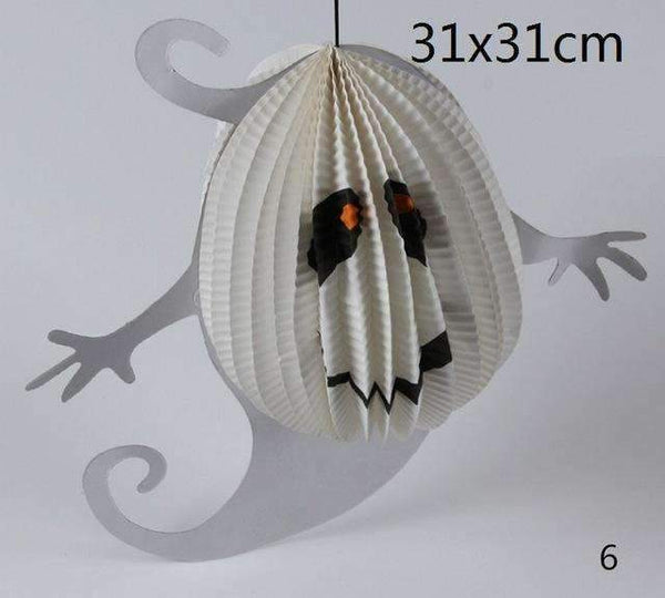 PinKart-USA Online Shopping Ghost 1 Pc Tissue Paper Lantern Ball Hanging Ghost Props Festival For Kids Babyshower Halloween Decoratio