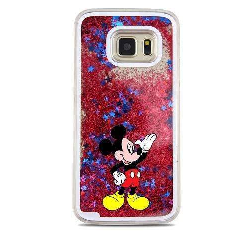 PinKart-USA Online Shopping Gold For Samsung Galaxy S7 Case Cute Stitch Mickey Shining Liquid Quicksand Mobile Phone Case Cover