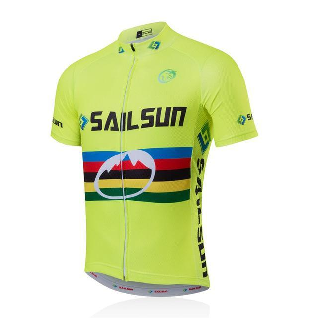 PINkart-USA Online Shopping Gold / L Sail Sun Team Racing Road Bike Cycling Jersey Breathable Cycling Clothing Ropa Ciclismo Bicycle