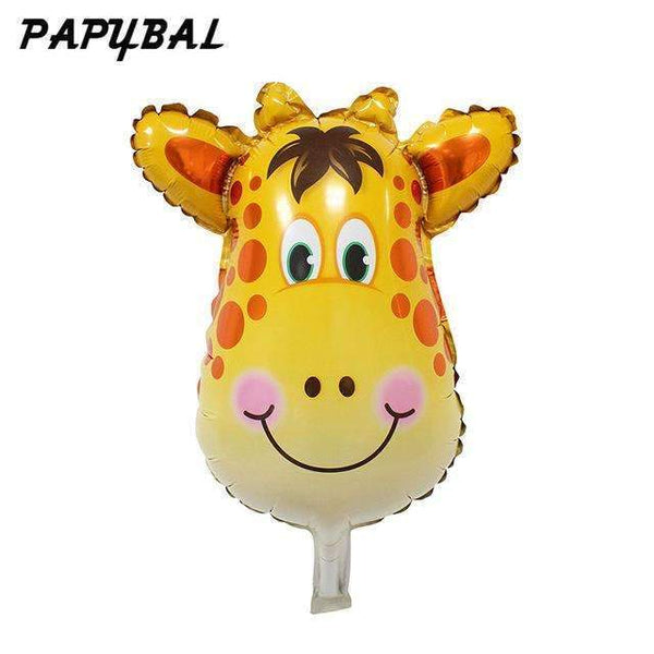 PinKart-USA Online Shopping Gold / Mnini Size 50Pcs Safari Animal Balloons Birthday Party Decoration Lion & Monkey & Zebra & Cow Head Safari Zoo