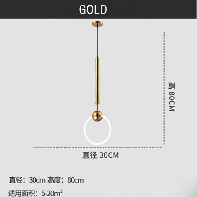 PINkart-USA Online Shopping Gold Modern Led Chandelier Nordic Living Room Pendant Lamp Bedroom Fixtures Stair Lighting Novelty