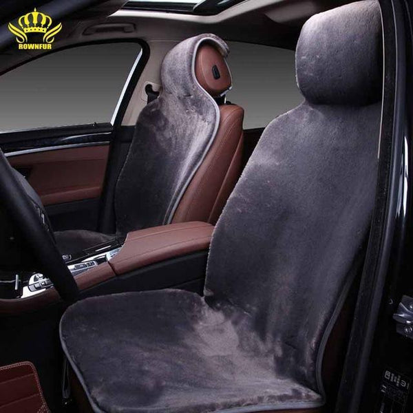 PinKart-USA Online Shopping Gray / China For 2 Front Car Seat Covers Faux Fur Cute Car Interior Accessories Cushion Cover Styling