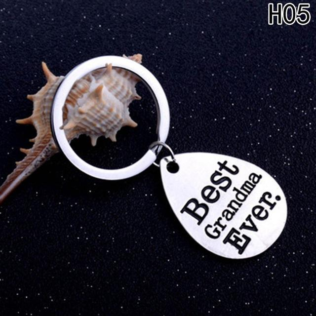 PINkart-USA Online Shopping Gray Key Chain Daddy Love Best Dad Ever Keychain Jewelry Family Father'S Day Gifts Keyring Charm