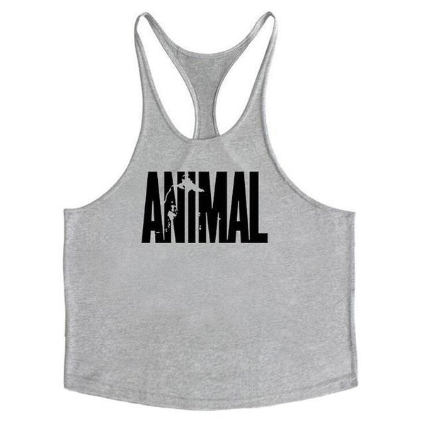 PINkart-USA Online Shopping Gray / L Brand Fitness Animal Gyms Tank Top Men Clothing Bodybuilding Stringer Men Sportwear Shirt Muscle
