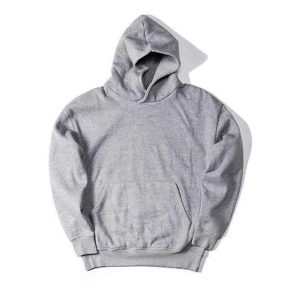 PinKart-USA Online Shopping Gray / L Man Si Tun Streetwear Pullovers Drake Kanye West Plain Fleece Oversized Hoodie Kpop Clothes