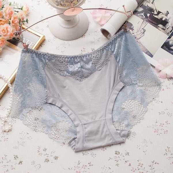 PINkart-USA Online Shopping gray / L Women Underwear Briefs Best Quality Women'S Panties Full Transparent Lace Seamless String Plus Size