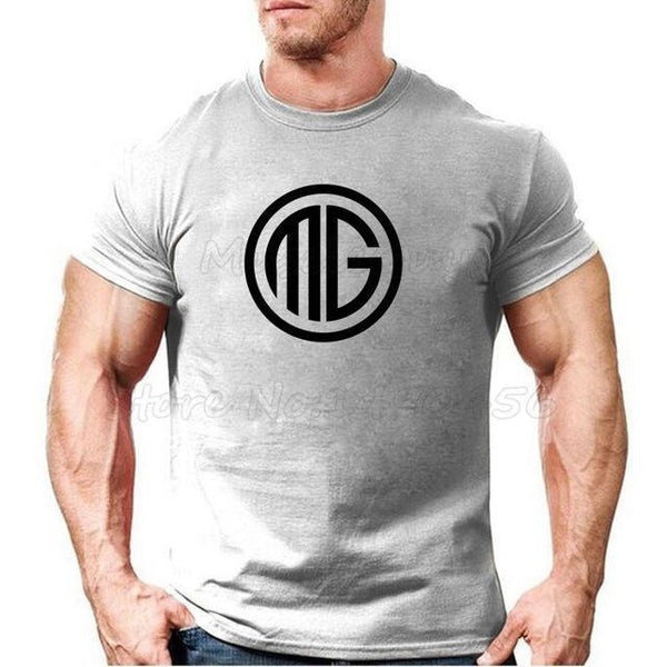PINkart-USA Online Shopping Gray / S Muscle Guys Brand Clothing Fitness T Shirt Men Cotton O-Neck T-Shirt Muscle Bodybuilding Tees
