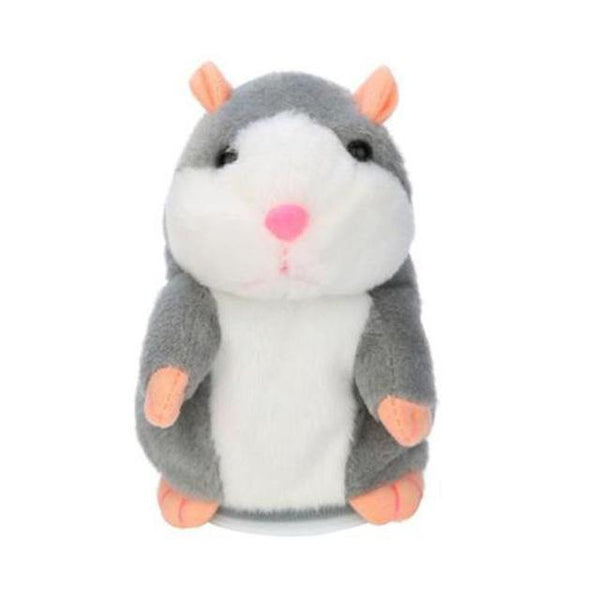 PINkart-USA Online Shopping Gray Talking Hamster Mouse Pet Plush Toy Learn To Speak Electric Record Hamster Educational Children
