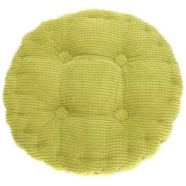 PinKart-USA Online Shopping Green 1Pc 36*38Cm Round Shape Plaid Chair Pad Cushion Thicker Soft Washable Cotton Colorful Home Decor