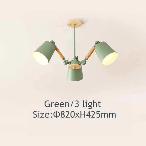 Lustre Led Chandelier For Living Room Hanging Lights Lustres Para Sala De Jantar Lampshade Wood