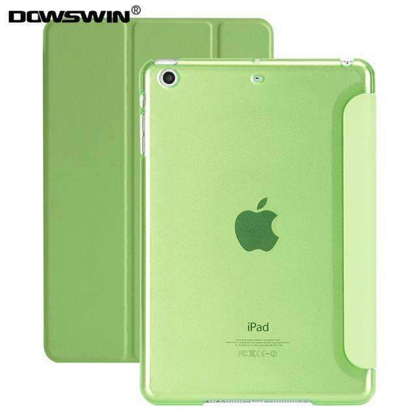 PinKart-USA Online Shopping Green For Ipad 9.7 Case Release Smart Wake Up Sleep Pu Leather With Matte Transparent Pc Back