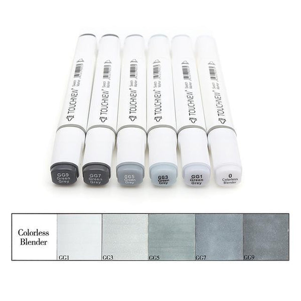 PINkart-USA Online Shopping Green gery style 6/12/30 Colors Grayscale Art Marker Pen Double-Ended Sketch Markers Alcohol Based Ink Neutral Gray