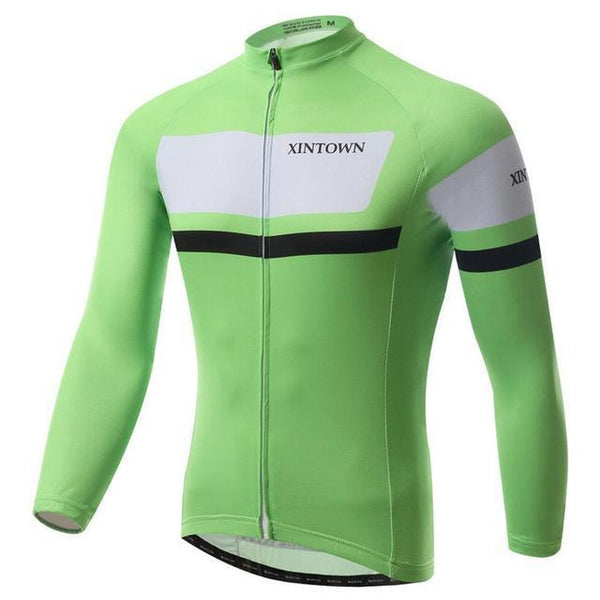 PINkart-USA Online Shopping Green / L Long Sleeve Racing Cycling Jersey Winter Bike Team Cycling Clothing Ropa Ciclismo Invierno Mtb Bike