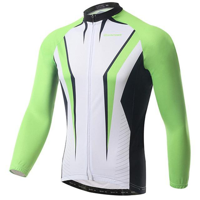 PINkart-USA Online Shopping Green / L Pro Racing Cycling Jersey Long Sleeve Bike Team Bicycle Cycling Clothing Ropa Invierno
