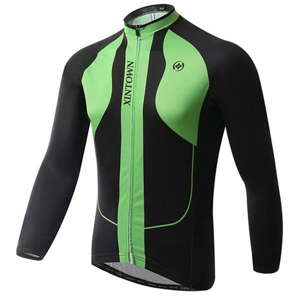PINkart-USA Online Shopping Green / L Winter Men'S Long Sleeve Cycling Jersey Team Racing Bike Jersey Pro Sports Bicycle Cycling