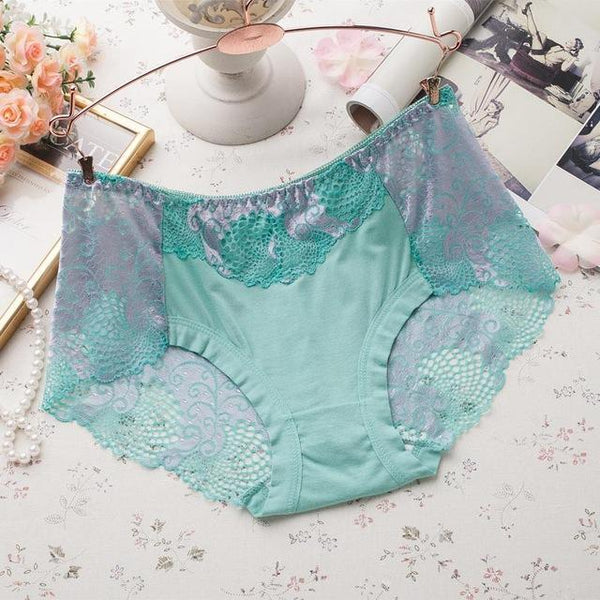 PINkart-USA Online Shopping green / L Women Underwear Briefs Best Quality Women'S Panties Full Transparent Lace Seamless String Plus Size