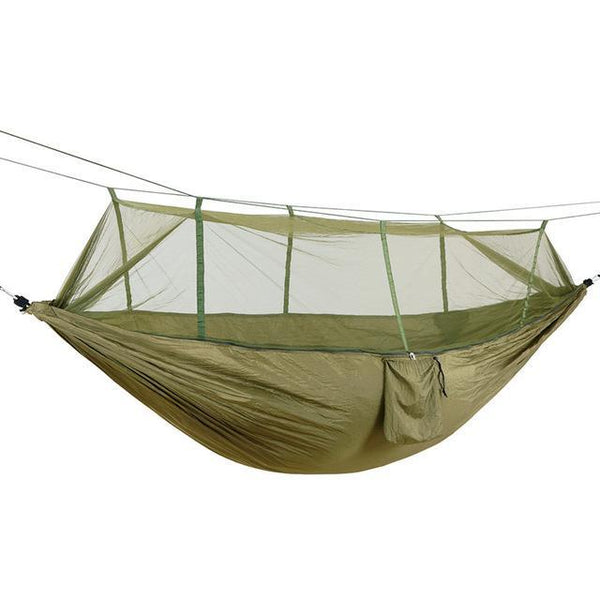 PINkart-USA Online Shopping green / Russian Federation Portable High Strength Parachute Fabric Camping Hammock Hanging Bed With Mosquito Net Sleeping