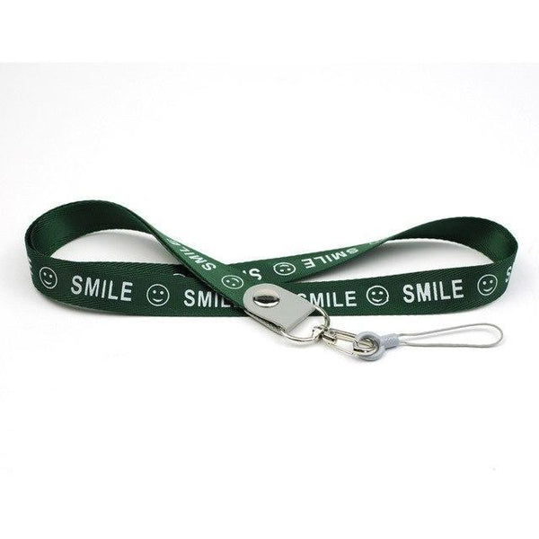 PINkart-USA Online Shopping green Smile Phone Neck Strap For Keys Id Card For Samsung S6 S7 Edge Iphone 4 5 5S Huawei Usb Badge