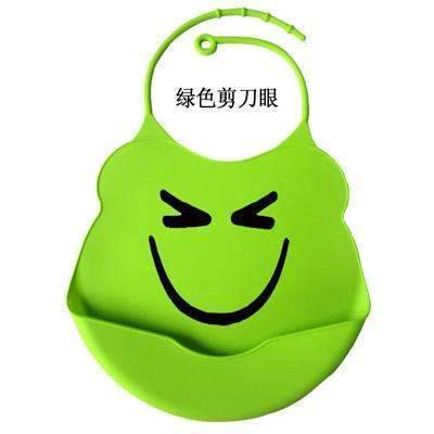 PinKart-USA Online Shopping green smlie / One Size Design Baby Bibs Waterproof Silicone Feeding Baby Salivatowel Wholesale Born Cartoon