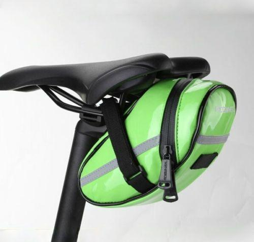 PINkart-USA Online Shopping Green Waterproof Quality Pu Cycling Bike Bicycle Seat Saddle Rear Tail Bag 4 Colors