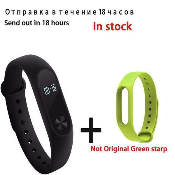 PinKart-USA Online Shopping gren Original Xiaomi Mi Band 2 Smart Bracelet Wristband Tracker Fitness Mi Band Oled Touchpad Sleep